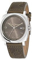 Pepe Jeans Howard Men's Quartz Watch with Brown Dial Analogue Display and Brown Leather Strap R2351111004