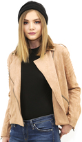 MinkPink Now or Never Suede Jacket in Tan