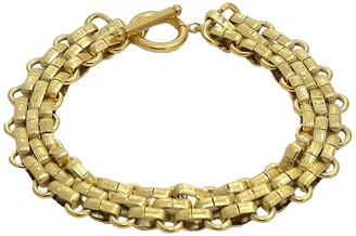 Savvy Cie 18K Gold Plated Panther Link Toggle Bracelet
