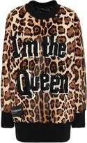 Dolce & Gabbana Embellished Leopard-print Calf Hair Sweatshirt