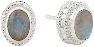 Anna Beck Sterling Silver Labradorite Stud Earrings