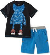 Kids Headquarters 2-Pc. Cotton Monster T-Shirt & Shorts Set, Baby Boys (0-24 Months)