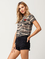 Almost Famous High Waisted Destructed Womens Denim Shorts
