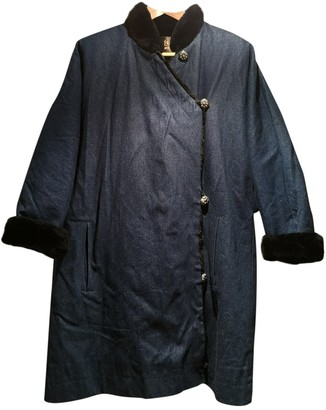 Saint Laurent Blue Fur Coat for Women Vintage