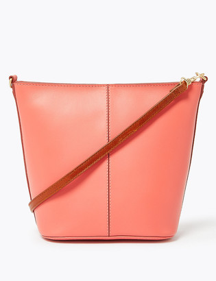 Marks and Spencer Leather Mini Bucket Bag