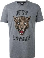 Just Cavalli lion face print T-shirt - men - Cotton - L