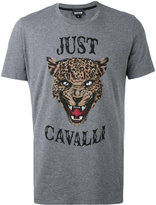 Just Cavalli lion face print T-shirt
