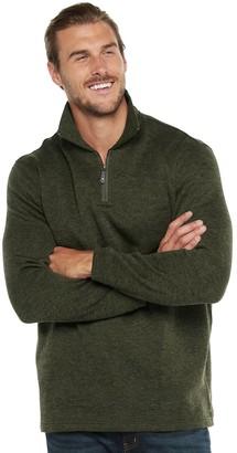 Haggar Big & Tall Quarter-Zip Sweater Fleece Pullover