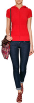 Juicy Couture JC Iconic Short Sleeve Hoodie in Red Ginger