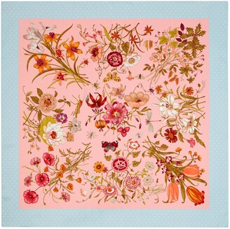 Gucci Silk scarf with Flora print