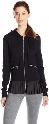 Kensie Performance Women's Ponte Knit Hooded Jacket