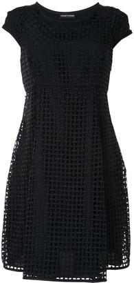Emporio Armani Crosshatch Mini Dress