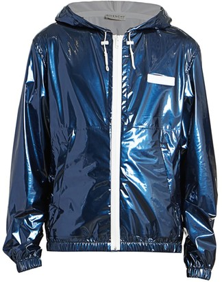 Givenchy Patent Zip-Front Windbreaker