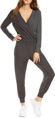 Terez Colorblock Metallic Long Sleeve Jumpsuit