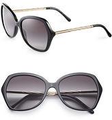 Burberry 57mm Gabardine Oversize Square Sunglasses