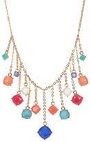 Carolee Stone Charm Frontal Necklace