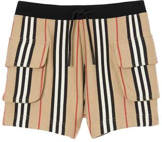 Burberry Icon Striped Cotton Loop Shorts