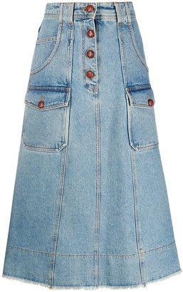 Philosophy di Lorenzo Serafini A-line denim skirt