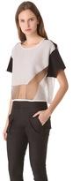 Helmut Lang Transparent Grid Boxy Sweater