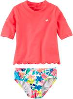 Carter's Baby Girls' Scalloped Rashguard Set, 6