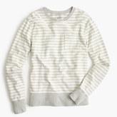 J.Crew Reverse terry sweatshirt in stripe