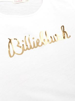 Billieblush Girls Short Sleeve Metallic Logo T-Shirt - White