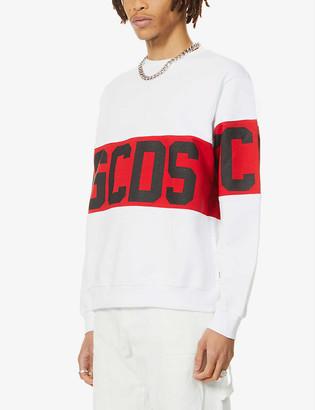 GCDS Logo-print cotton-jersey hoody