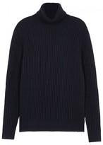 Pal Zileri Navy Wool And Cashmere Blend Jumper