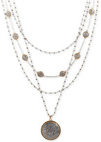 Lucky Brand Two-Tone Pavé Statement Layered Necklace