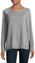 Calvin Klein Side Slit Crew Neck Sweater