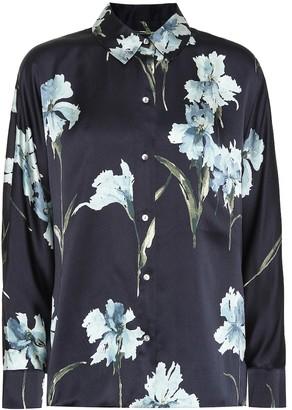 Vince Floral silk shirt