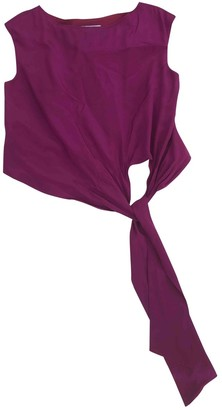 Jaeger Burgundy Silk Dress for Women
