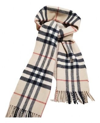 Burberry Ecru Wool Scarves & pocket squares