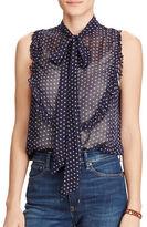 Denim & Supply Ralph Lauren Gauze Tie-Neck Sleeveless Top