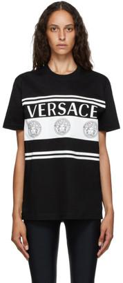 Versace Black Vintage Medusa Logo T-Shirt