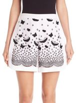 Giamba Butterfly Applique & Lace Shorts