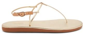 Ancient Greek Sandals Katerina T-bar Leather Sandals - Gold