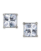 Charter Club Silver-Tone Square Crystal Stud Earrings