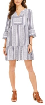 Style&Co. Style & Co Cotton Printed Ruffled-Hem Dress, Created for Macy's