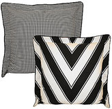Rose Tree Symphony Chevron & Houndstooth Reversible Euro Sham