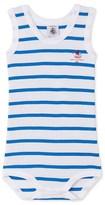 Petit Bateau Baby boy sleeveless, striped bodysuit