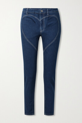Burberry - High-rise Skinny Jeans - Blue