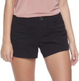 UNIONBAY Juniors' Delaney Stretch Twill Midi Shorts