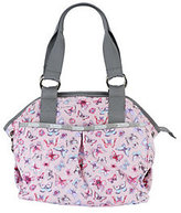 Le Sport Sac As Is Printed Nylon Embroidered Satchel