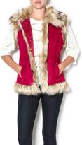 Tasha Polizzi Fur Collared Vest