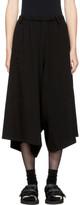 Y's Black Asymmetry Strap Trousers