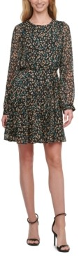 Tommy Hilfiger Petite Animal-Print Fit & Flare Dress