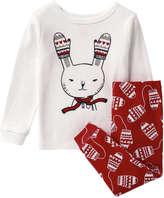 Joe Fresh Baby Girls' Bunny Sleeper, Cream (Size 18-24)