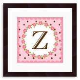 "Bed Bath & Beyond Monogram Letter ""Z"" Wall Art in Rose"
