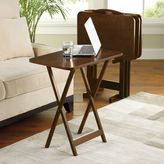 Bed Bath & Beyond Hamilton 5-Piece Snack Tray Table Set